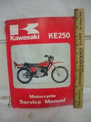 Kawasaki    Ke250 Motorcycle Service Manual #99924-1014-01