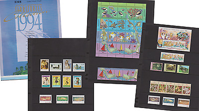 Australian Territories Year Collection of Stamps AAT Cocos Christmas Is 1994