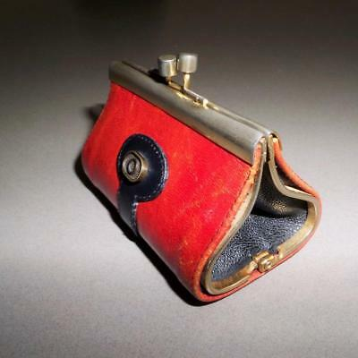 Vintage Retro OROTON Brown Leather COIN PURSE Made in Italy BUY3+ITEM= FREE POST