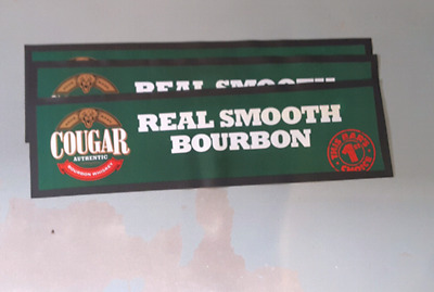 cougar bourbon rubber backed bar mat