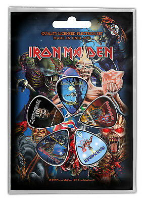 Iron Maiden Later Albums Guitar Pick 5 Pack Official Plectrum Picks Set