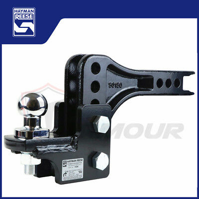 Heavy Duty Adjustable Tow Ball Mount Tongue Tow Bar Hitch Trailer 4Wd 3500Kg