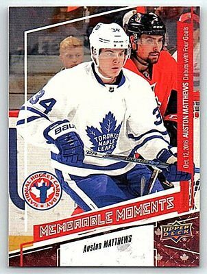 2016-17 AUSTON MATTHEWS UD NATIONAL HOCKEY CARD DAY ROOKIE RC Card # CAN16 Mint