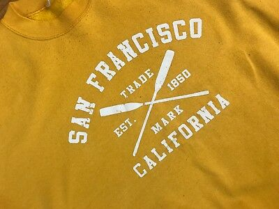 Vtg SAN FRANCISCO California Yellow Sweatshirt Shirt XL? See measurements below