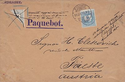 1910: Hungary/Fiume - Paquebot to Trieste