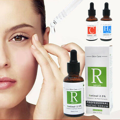 PURE RETINOL VITAMIN A E 2.5% Anti Aging Wrinkle Acne Facial Face HyaluronicAcid
