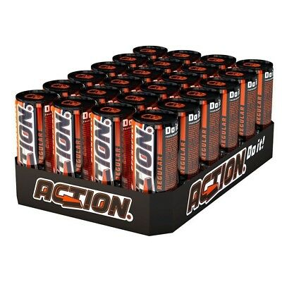 Action Energy Drink 24 x 250ml Pfand Frei neues Design 0.25L Dose Energie *NEU*