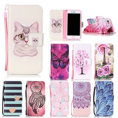 ZD Lovely Printed Magnetic Leather Card Wallet Flip Stand Case Cover For Samsung