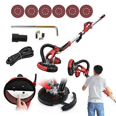 Electric Drywall Sander Tool 800W Variable Adjustable 5-Speed Sand Pad+LED Light
