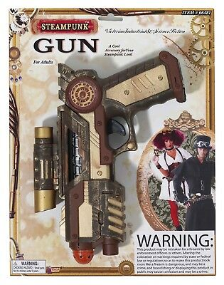 Steampunk Space Gun Weapon Adult Costume Accessory