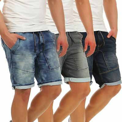 d4bcd7852b3b6b Herren Shorts Jeans Optik Männer kurze Hose Sweat Denim Urban Surface LUS -117