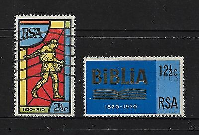 SOUTH AFRICA - 1970 150th Anniversary Bible Society of Sth Africa, set of 2