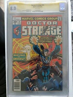 Doctor Strange #24  CGC SS 8.0 Jim Starlin signature