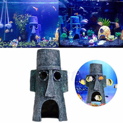 Funny House Hole Fish Tank Aquarium Decoration House Spongebob Gary  KU
