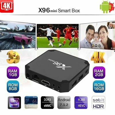 X96 mini Android 7.1 TV Box S905W 8G/16G 4K WiFi 3D HD+Backlight Keyboard F8C5L