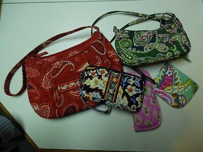 Lot 5 Vera Bradley Purses Flip Phone Case Coin Purse