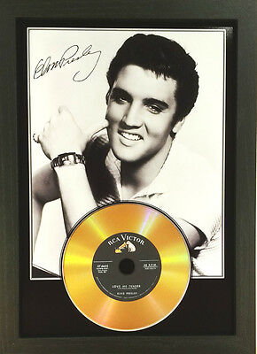 Elvis Presley Signed Photograph Gold Cd Disc Collectable Memorabilia Gift