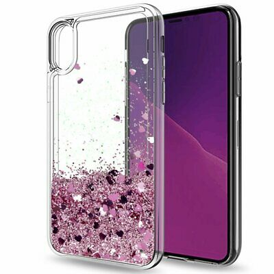 Shockproof Bling Glitter Liquid Quicksand Case Cover for iPhone XS Max XR 8 Plus
