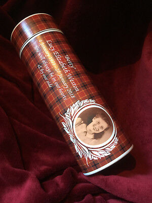 Cremation Ashes - Adult Scatter Tube with Personalised Photo, Verse & Background