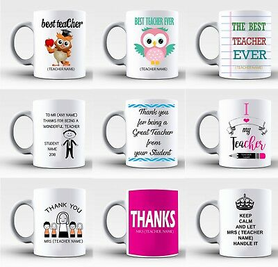 Personalised Best Teacher Mug Cup Gift Retiring Thank You Present From Pupil