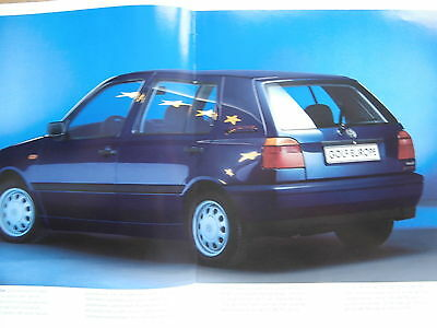 vw golf 3 variant europe sonderprospekt mai 1996. Black Bedroom Furniture Sets. Home Design Ideas