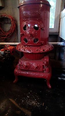 Antique 1907 Andes Cayuta Wood Coal Burning Pot Belly Parlor Stove (can deliver)