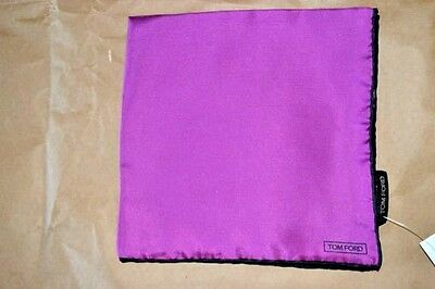 $145 NWOT TOM FORD Purple Navy hand rolled men's silk pocket square handkerchief