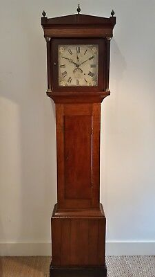 Antique Oak/mahogany Longcase/grandfather Clock 11 Inch Dial Salisbury Maker