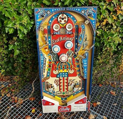 BALLY Evel Knievel Pinball Machine Playfield plastics Vintage original