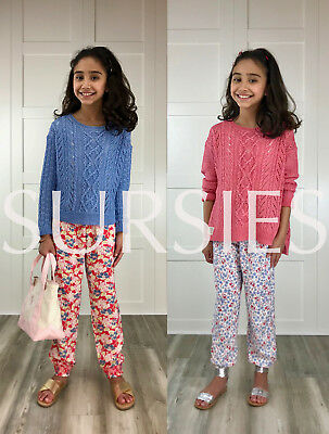 POLO RALPH LAUREN PANT Girls Smocked Waist Floral Print Red Blue Pink ALL SIZES