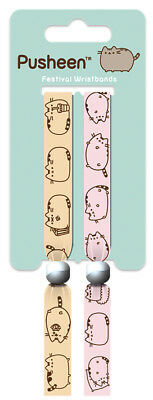 Pusheen Pack Of 2 Fabric Festival Wristbands BY PYRAMID FWR68111