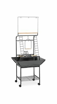 Prevue Pet Products Small Parrot Playstand 3181 Black Hammertone, 17.625-Inch...