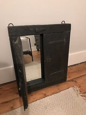 Antique / Vintage Indian Reclaimed Shuttered Window Mirror.