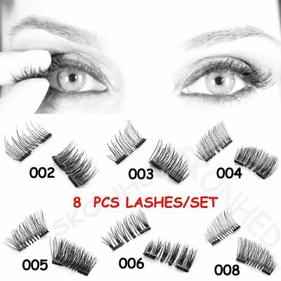 SKONHED 8 Pcs Lashes/Set Cils à Double Aimant Pas De Colle Requise
