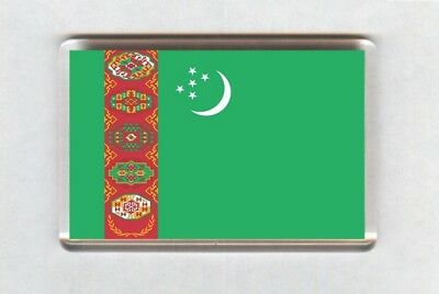 Turkmenistan Flag Fridge Magnet