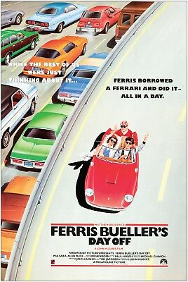 Ferris Bueller's Day Off Vintage Movie Large Poster Art Print A1 A2 A3 A4 Maxi