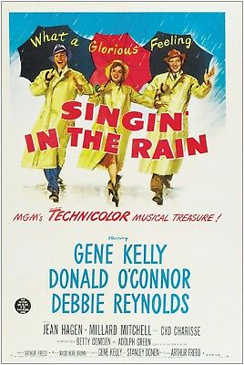 Singin' in the Rain Vintage Movie Large Poster Art Print A1 A2 A3 A4 Maxi