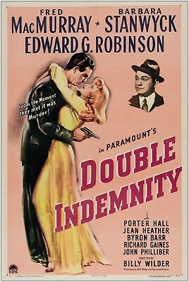 Double Indemnity Vintage Movie Large Poster Art Print A1 A2 A3 A4 Maxi