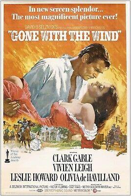 Gone with the Wind Vintage Movie Large Poster Art Print A1 A2 A3 A4 Maxi