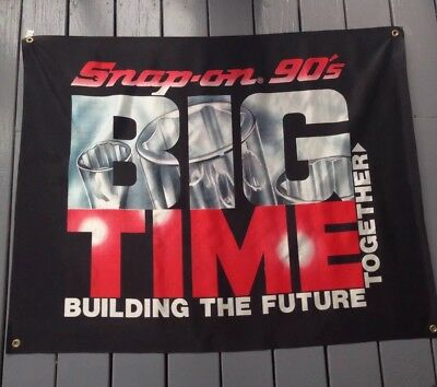 Snap On Tools Collectable Big Time Meeting Room Banner 1991 RARE VINTAGE ANTIQUE