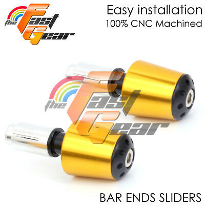 Gold CNC Sole-A Bar Ends Sliders For Yamaha YZF R6 06-16 07 08 09 10 11 12 13 14
