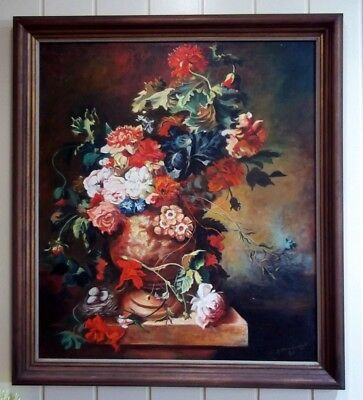 Large European Oil Painting , signed by the Artist , Z Proncyzk , 1984 .