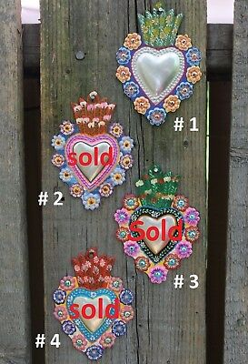 Do it Your Self Milagros, SOLD SEPARATELY! Folk Art Peru Hand Painted Tin Hearts
