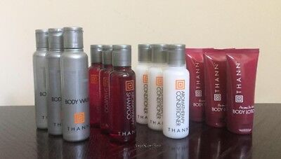 THANN Aromatic Wood Shampoo Conditioner Body Wash Lotion (3 of ea) 12pc GIFT SET