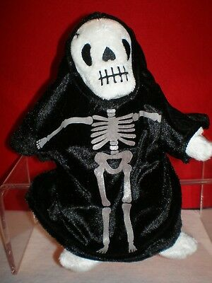 CREEPERS TY BEANIE BABIES HALLOWEEN SKULL FACE SKELETON ROBE  MINT w/ MINT TAG