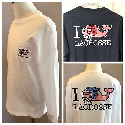 Vineyard Vines Boys Shirt Lacrosse White Navy Blue Small Medium Large XL New NWT