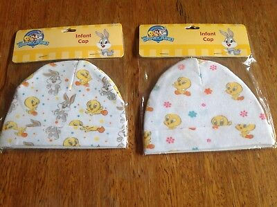 Looney Tunes Infant Caps Brand New - Tweety Bird and Bugs Bunny