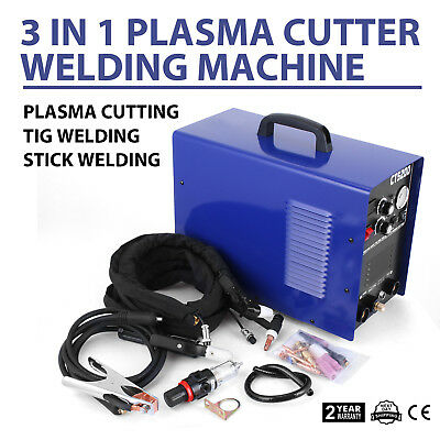 50A Plasma Cutter 3 IN 1 110V 200A TIG ARC MMA Welder CT520D Argon Simadre