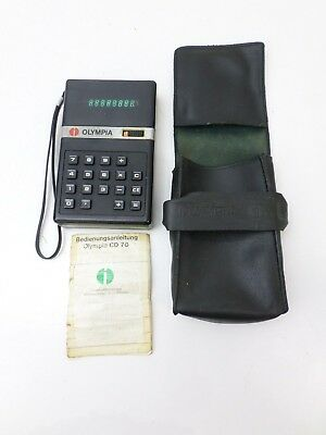 Olympia CD 70 CD70 Vintage 1974 Calculator  Made in Japan Manual + case T47