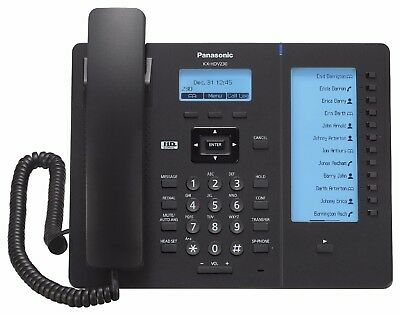 **NEW** Panasonic KX-HDV230b Business VoIP Desk Phone w/Power Supply SIP HDV 230